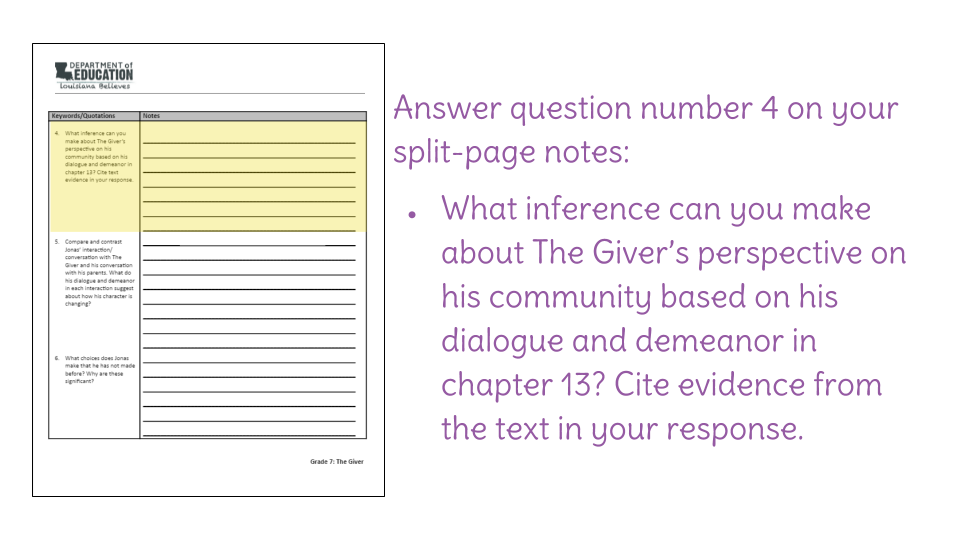 the giver chapter 19 questions