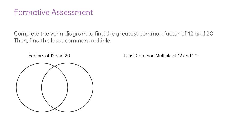 Find The Greatest Common Factor And Least Common Multiple Of Two Or