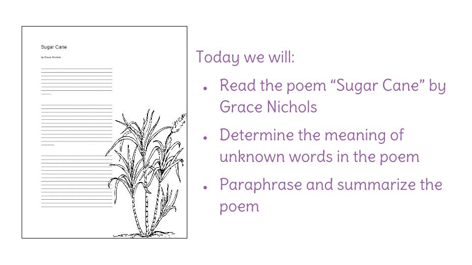 grace nichols poems