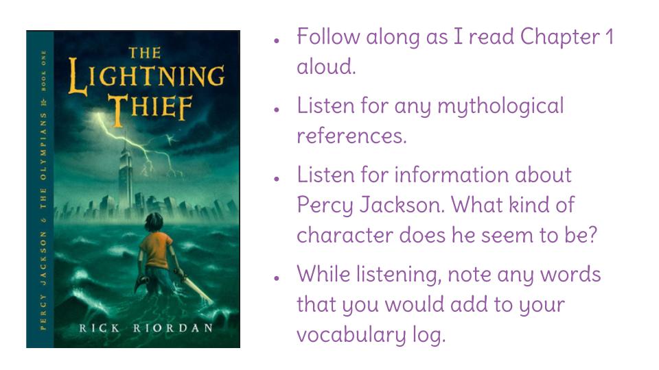 the lightning thief book report summary