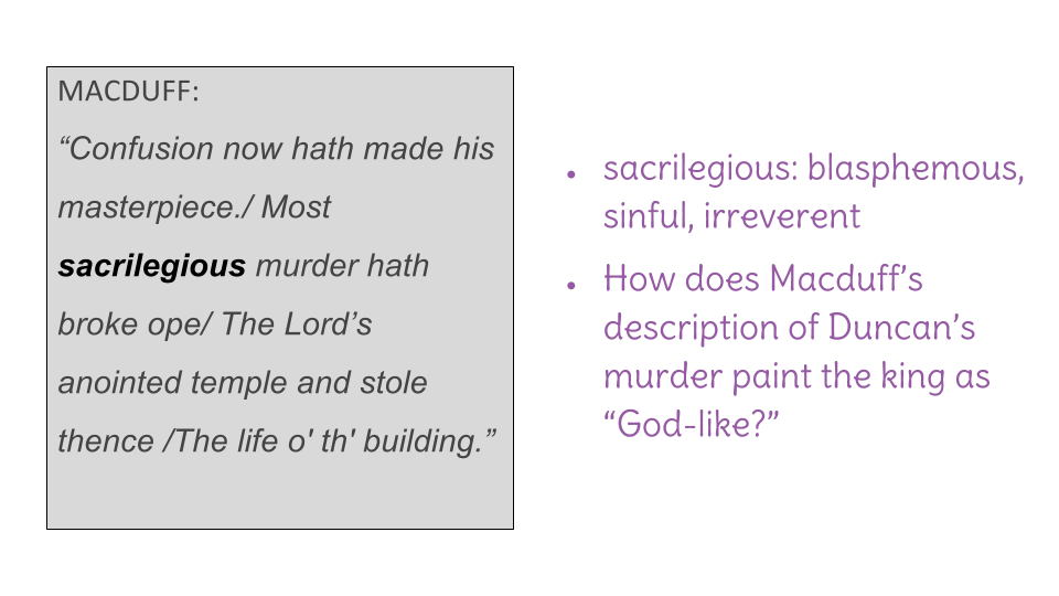 Lesson 18 Analyzing An Authors Choices In Act Ii Of Macbeth By