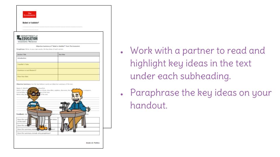 Lesson 1: Summarize a nonfiction text | LearnZillion