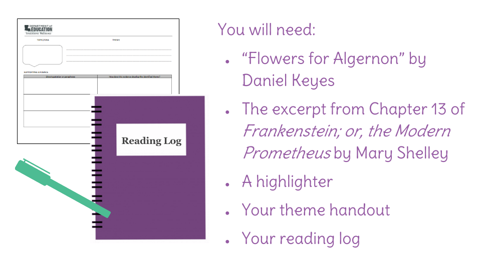 lesson compare flowers for algernon and frankenstein view resource copy resource id