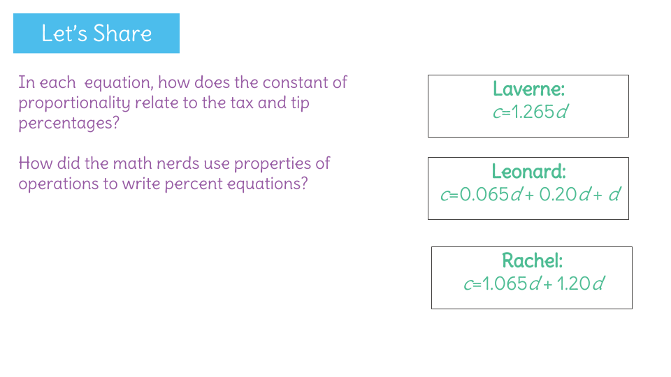 Solve Percent Problems Using Combinations Of Tax And Tip Learnzillion