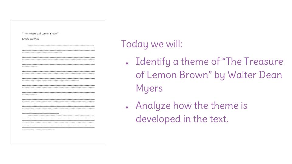 the treasure of lemon brown full story