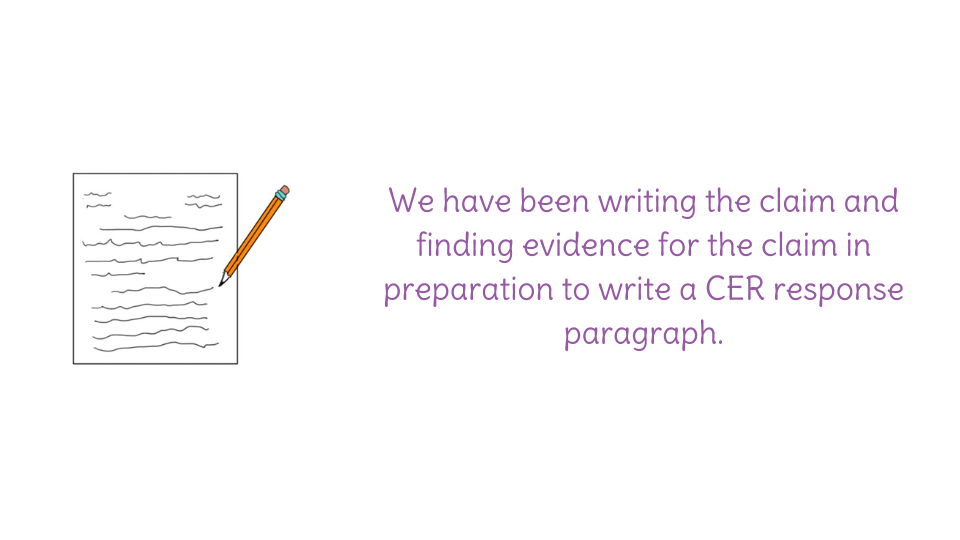 supporting evidence in writing