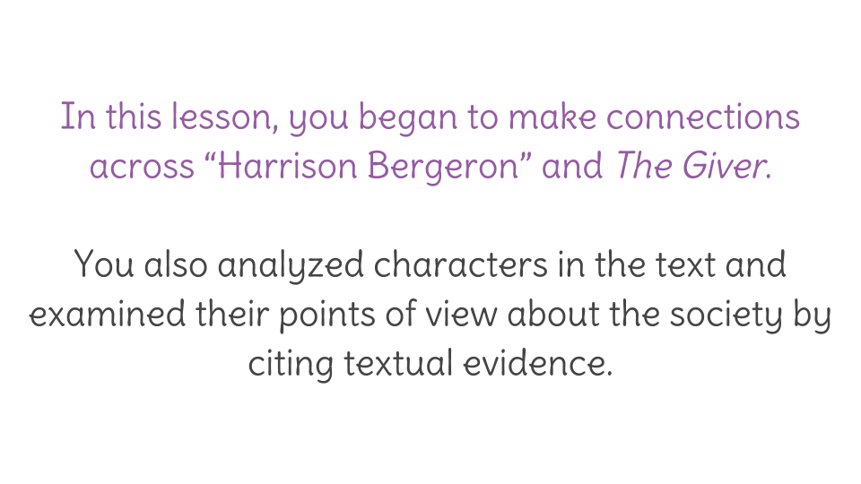 lesson analyze characters from ldquo harrison bergeron rdquo and their view resource copy resource id