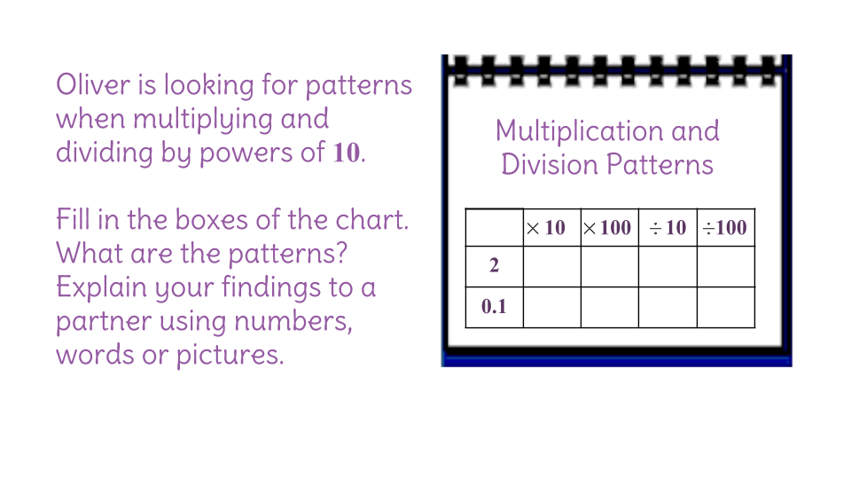 8 Understand How Multiplication And Division By 10 Relate To Place