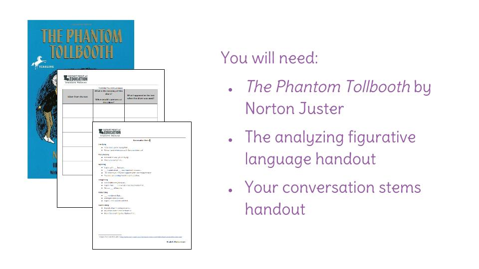 Lesson 28 Analyzing figurative language in a literary text – Phantom Tollbooth Worksheets