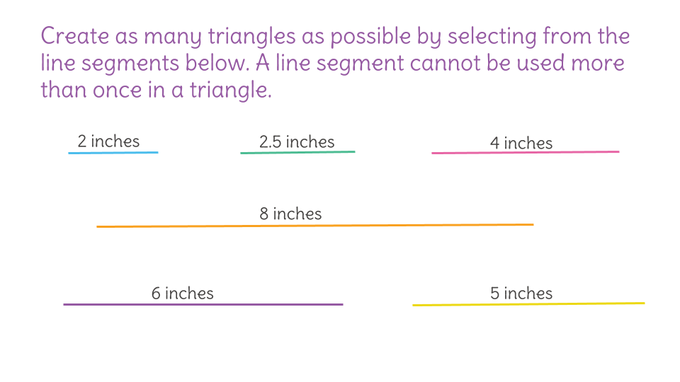 Determine if a triangle can be created by using the triangle – Triangle Inequalities Worksheet