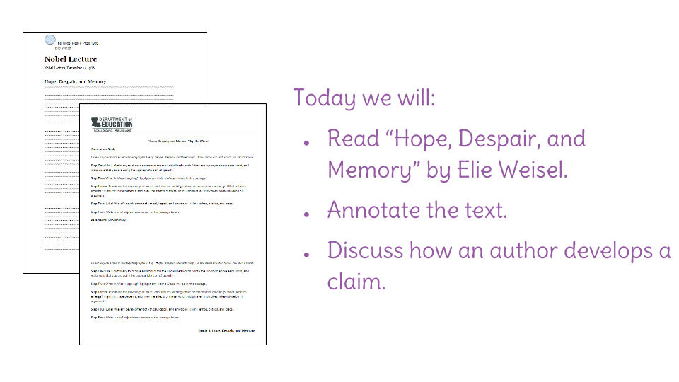 Lesson 4 Hope Despair And Memory Analyzing Words And Phrases