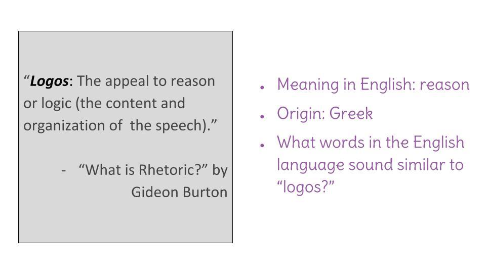 logos definition speech