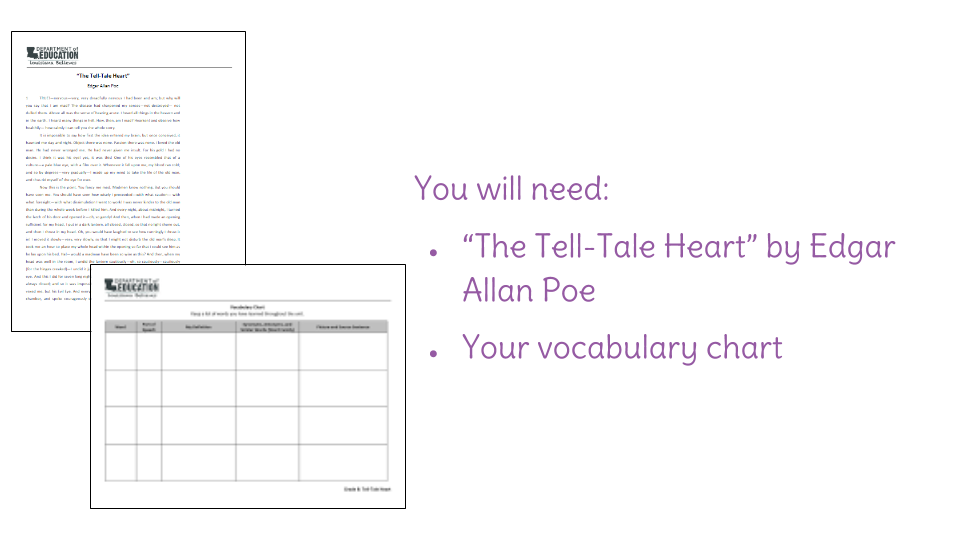 the tell tale heart recording