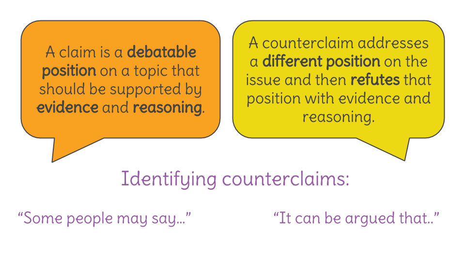 Lesson 27 Analyzing Claims And Counterclaims In An Informational