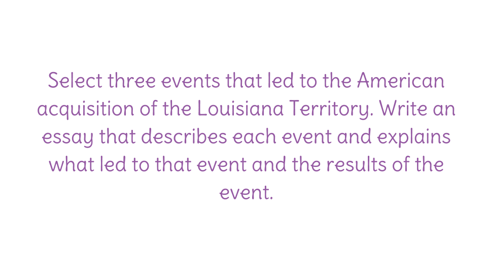 what events led up to the louisiana purchase