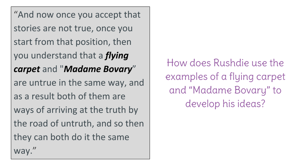 """Lesson 2: reread """"magical realism is still realism"""" 
