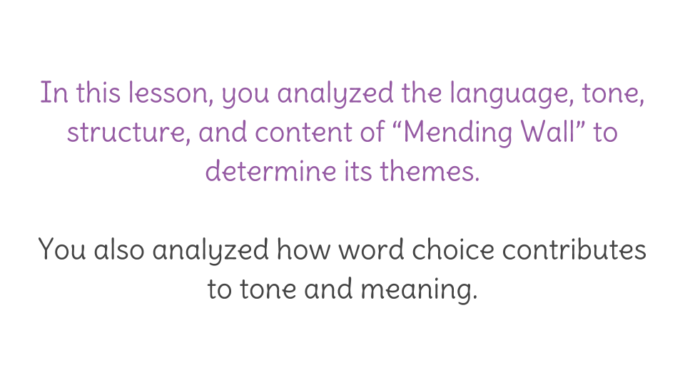 mending wall title meaning