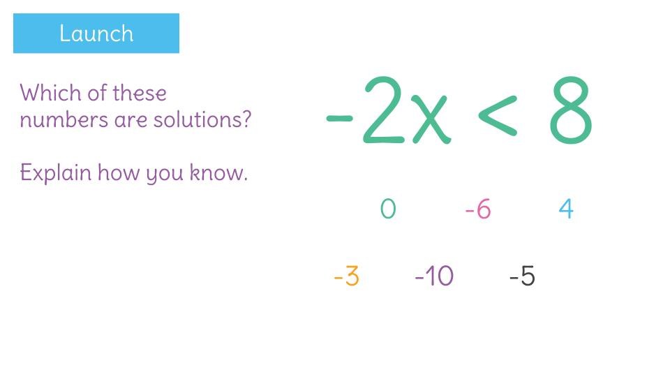 Solve An Inequality With A Negative Coefficient By Using The