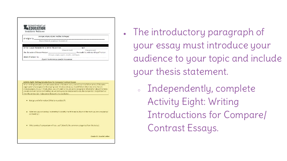 lesson  preparing to write a compare and contrast essay  learnzillion download