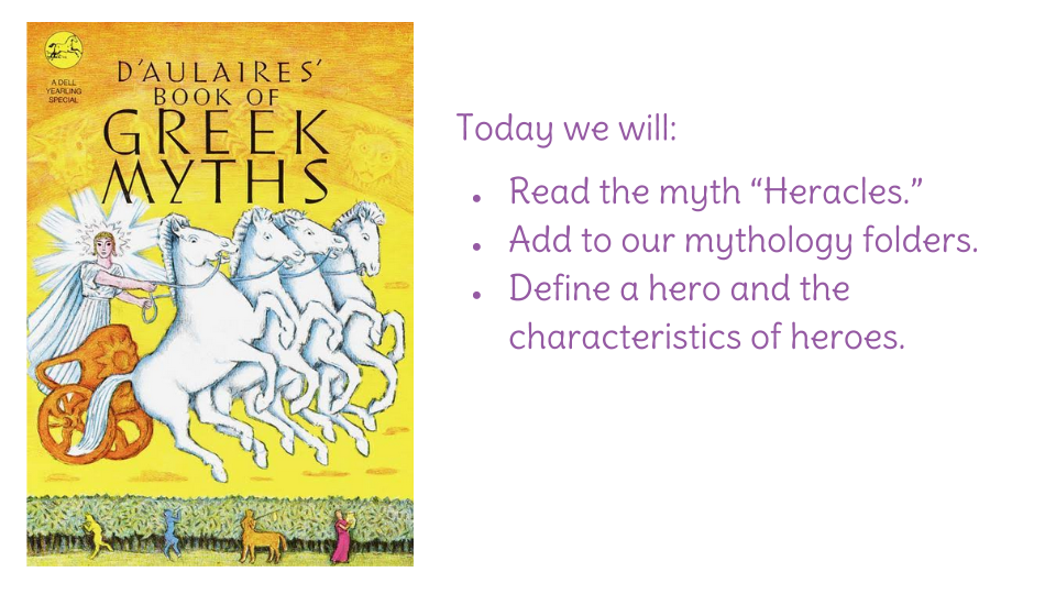 Lesson 3 The Myth Of Heracles Learnzillion