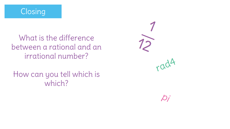 Identify numbers as rational or irrational by sorting them into – Classifying Rational and Irrational Numbers Worksheet