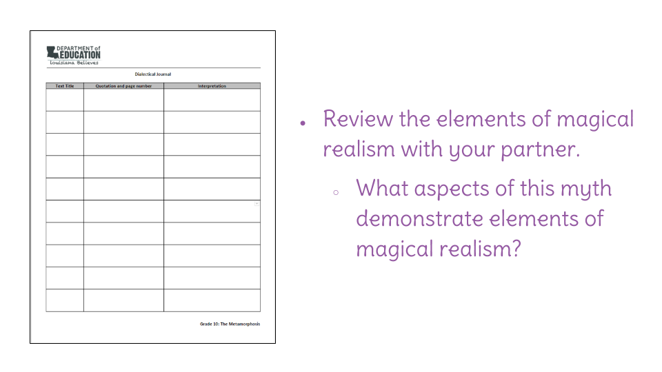 "lesson identify elements of magical realism in ""the  view resource copy resource id"