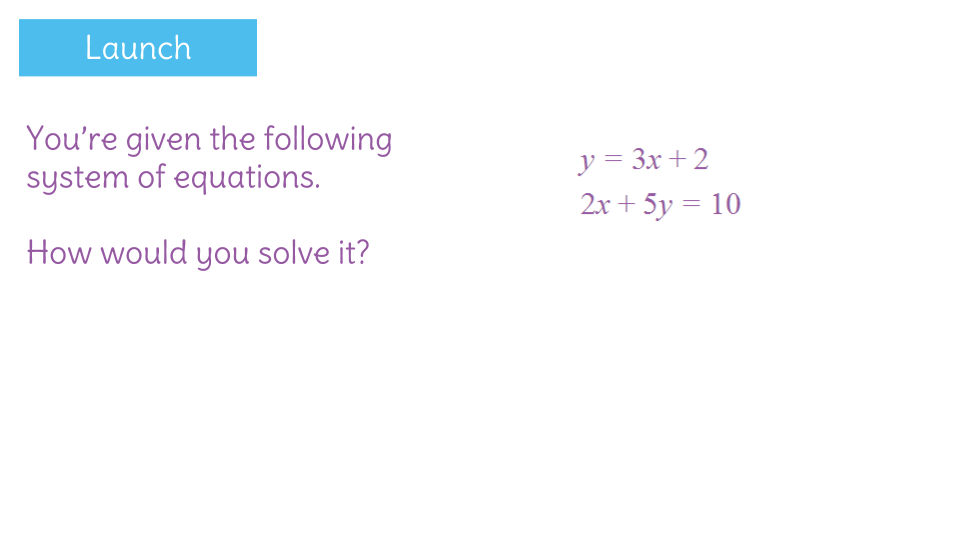 Determine whether graphing substitution or elimination is the – Solving Systems by Graphing Worksheet