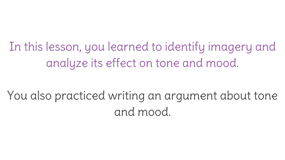 Lesson 10 Analyze Text For Tone And Mood Learnzillion