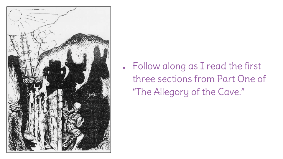 allegory of the cave related to In the allegory of the cave, plato distinguishes between people who mistake sensory knowledge for the truth and people who really do see the truth.