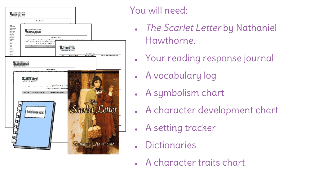 an analysis of the book the scarlet letter on symbolism The scarlet letter nathaniel hawthorne book, thrown at large on the wide world, were certain to find out the divided segment of the writer's own nature.