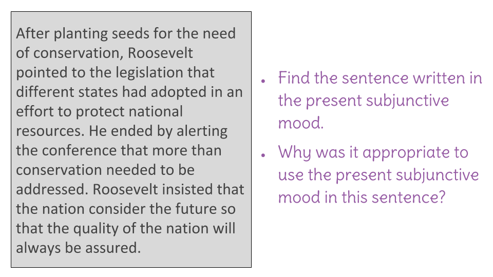 Lesson 19 Revising Writing To Use Verbs In The Present Subjunctive