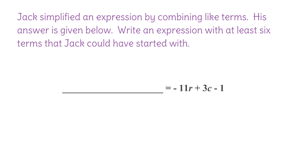 2 Combining Like Terms to Simplify Expressions FP – Distributive Property Combining Like Terms Worksheet