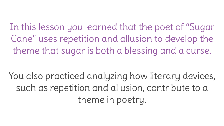 Lesson 30 Analyzing How Literary Devices Contribute To A Theme In