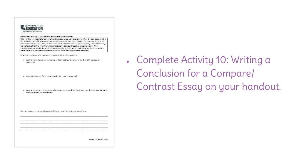 Proposal Essay Sample Download Easy Essay Topics For High School Students also Business Essay Sample Lesson  Writing A Compare And Contrast Essay  Learnzillion Essay Writing Examples For High School