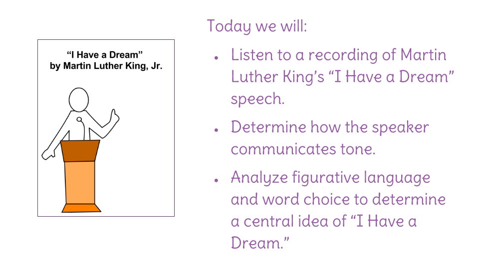 Lesson 21 I Have A Dream Guided Reading Learnzillion