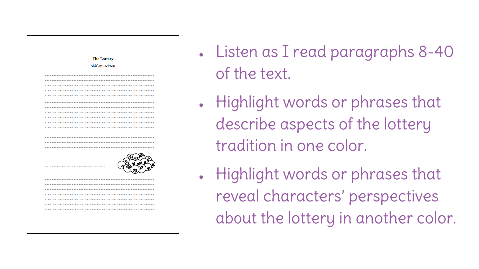 Lesson 7 Diction And Connotation In The Lottery Learnzillion