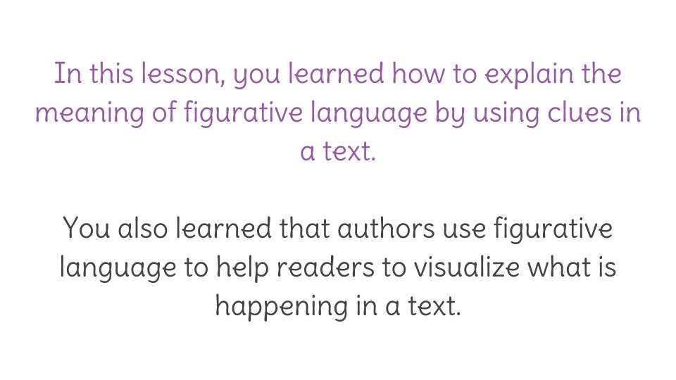 Lesson 14: Focusing on figurative language | LearnZillion