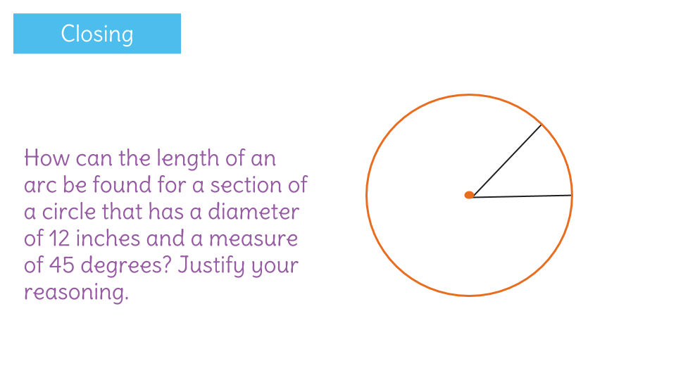 Investigate and calculate arc length by using circumference