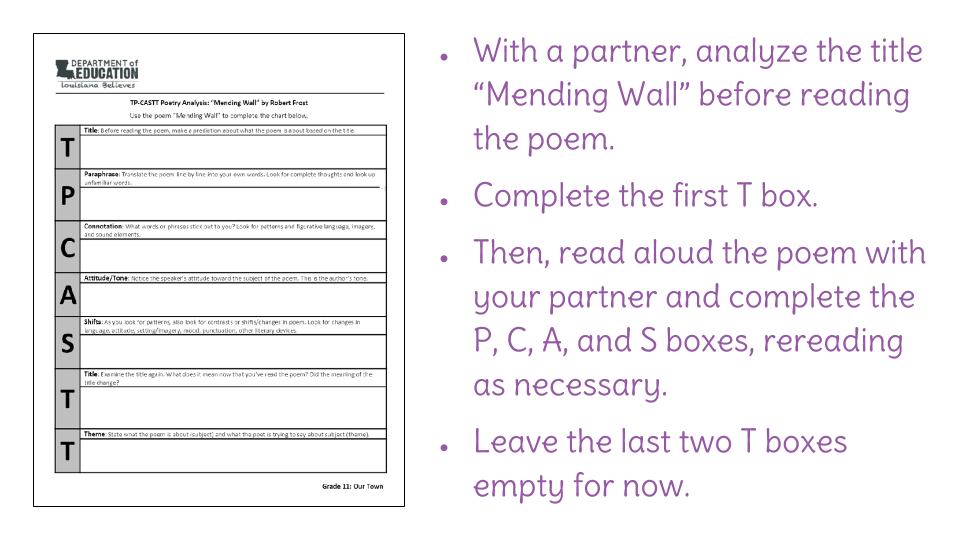 Lesson 28 Mending Wall Learnzillion