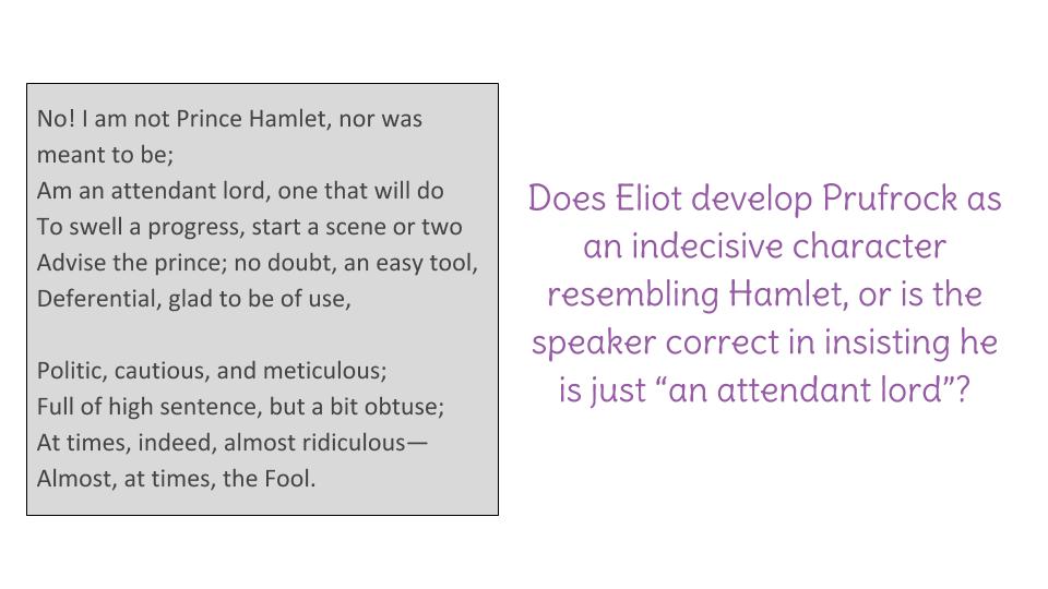 why does ts eliot describe hamlet as an artistic failure
