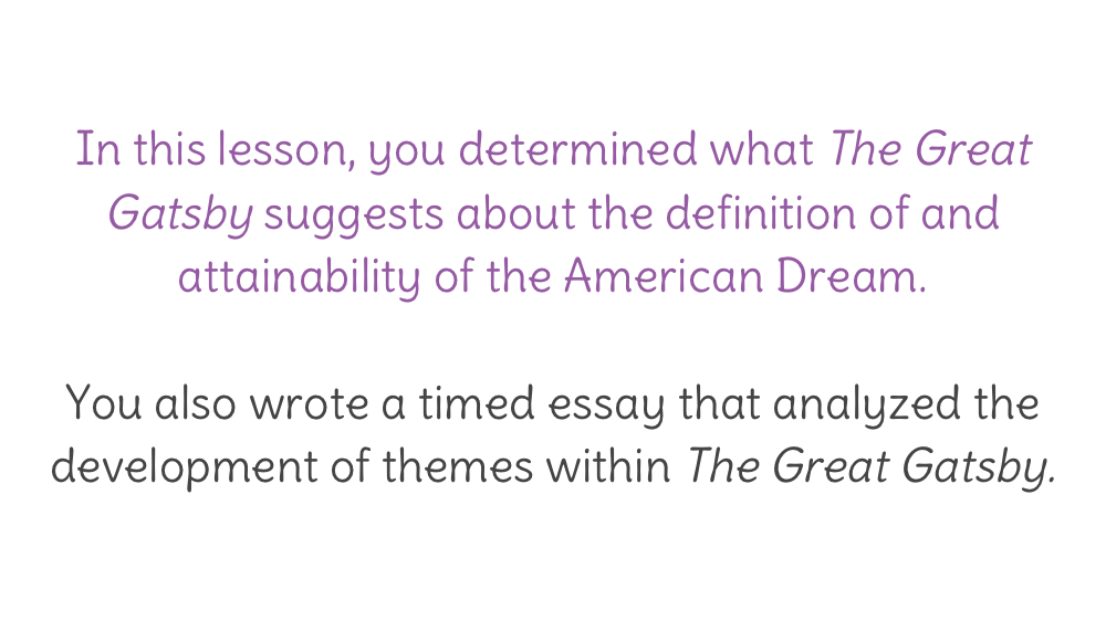 lesson the great gatsby timed writing learnzillion view resource copy resource id