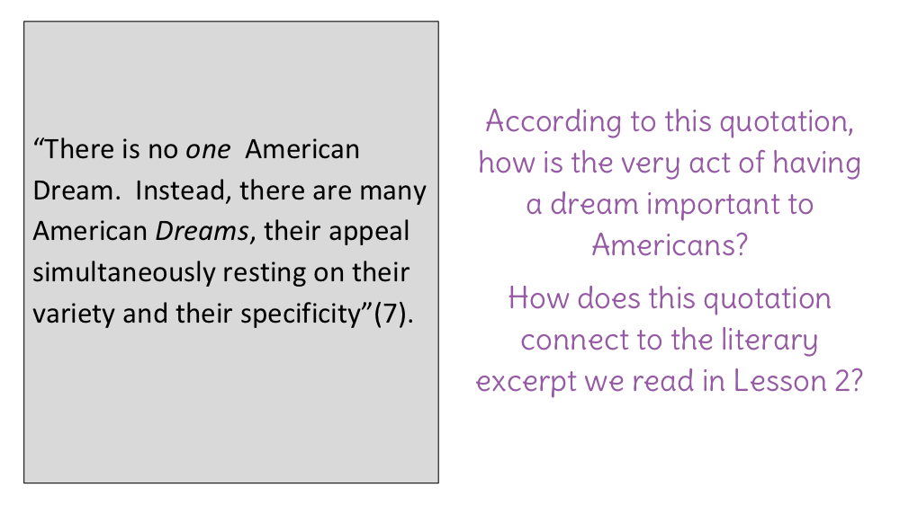 Lesson  Analyzing The Introduction To The American Dream A Short  Download