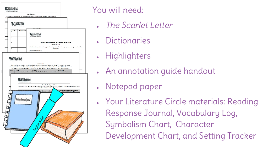 the scarlet letter structure