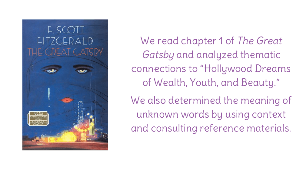 analysis of the book the great gatsby The great gatsby by scott fitzgerald 1the american dream positive aspects life, liberty and the pursuit of happiness a land of infinite opportu.