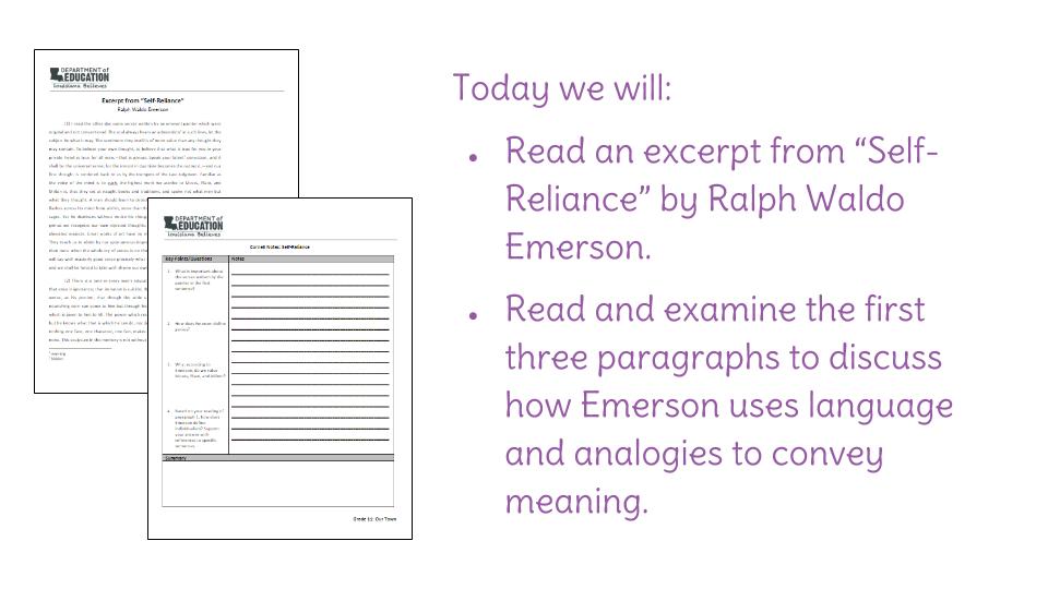 self reliance short summary